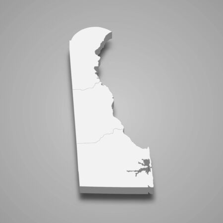 3d map of Delaware is a state of United States