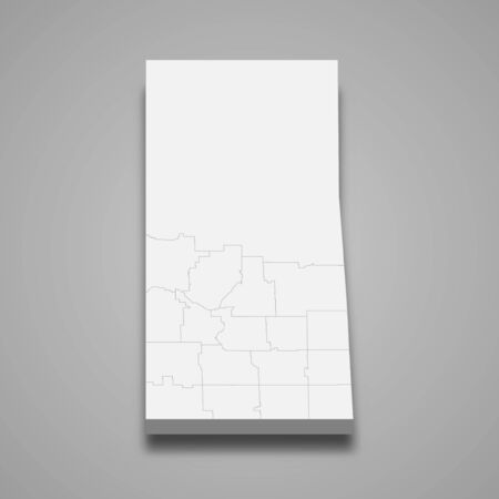 3d map of Saskatchewan is a province of Canada