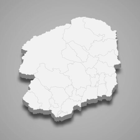 3d map of Tochigi is a prefecture of Japan