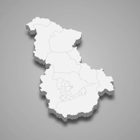 3d map of Sejong metropolitan city is a region of South Korea