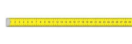 measuring ruler tape for tool roulette on white background Vectores
