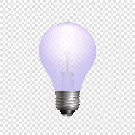 Realistic 3d light bulb. Vector lamp isolated