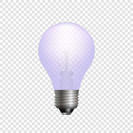 Realistic 3d light bulb. Vector lamp isolated