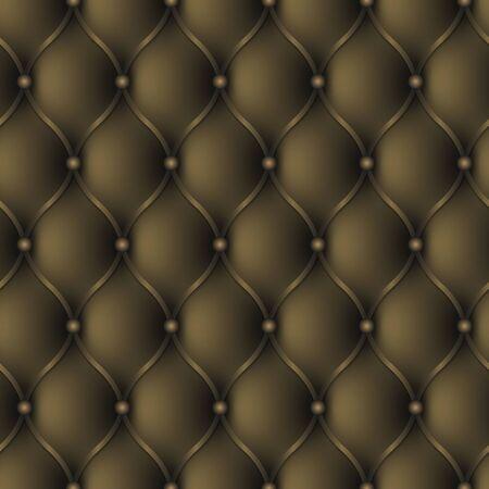 Luxury leather sofa background. Seamless pattern Vector Illustratie