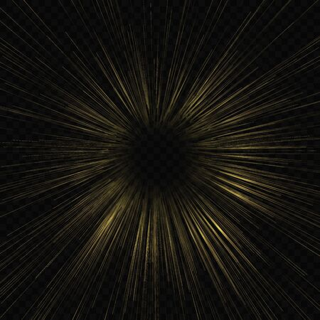Hyperspace speed warp, Starburst lrays background 矢量图片