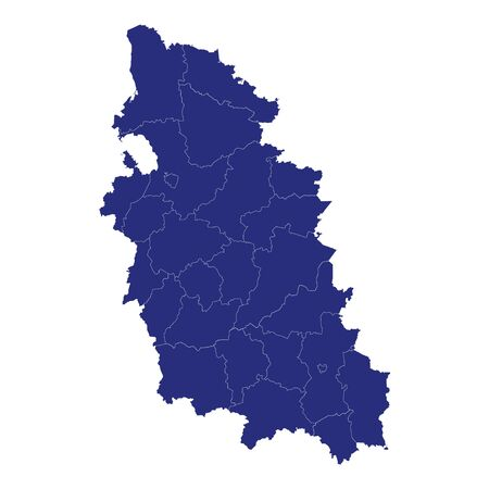 High Quality map of Pskov Oblast is a region of Russia with borders of the districts Banco de Imagens - 150180018