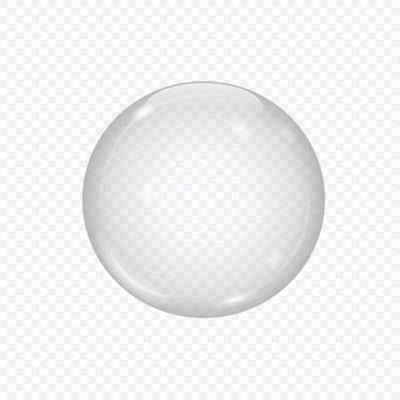 3d glass sphere isolated on transparent background
