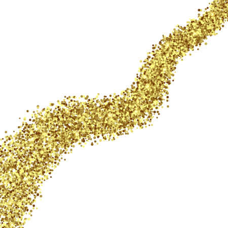Gold Foil Glitter Texture Isolated Template for your design