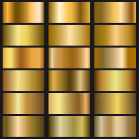 Set of gold gradient texture. Template for your design Ilustracja