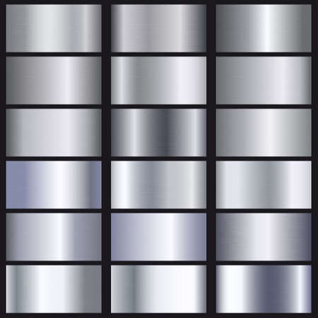 Set of silver gradients texture. Template for your design Ilustracja