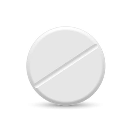 3d Realistic White Medical Pill Template for your design