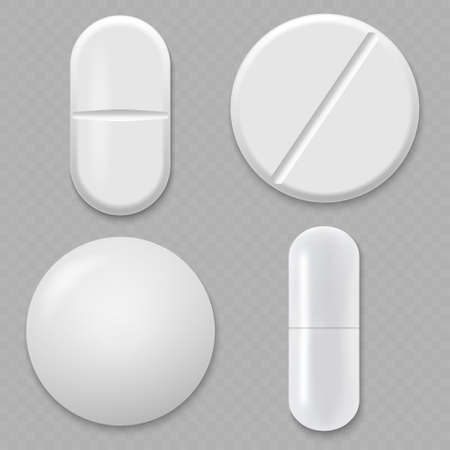 3d Realistic White Medical Pill. Template for your design