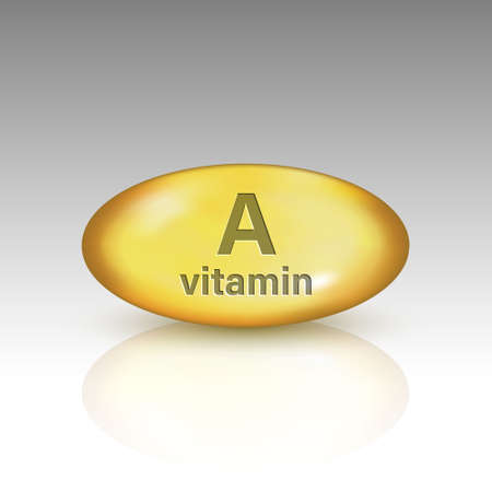 Vitamin A, vitamin drop pill Template for your design