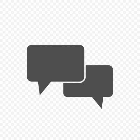 Chat bubble speech vector icon, talk sign