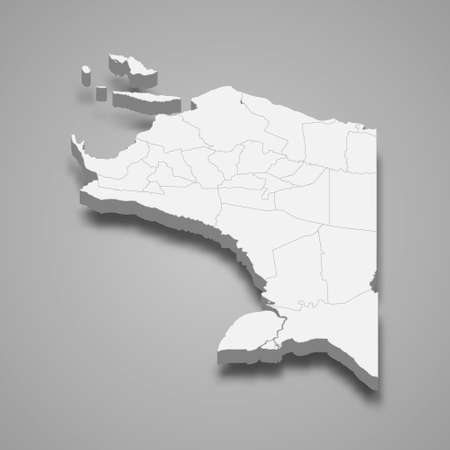 3d isometric map of Papua is a province of Indonesia, vector illustration 矢量图像