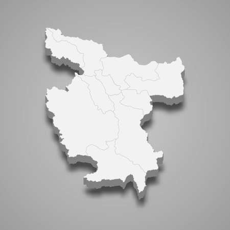 3d isometric map of San Martin is a region of Peru, vector illustration 矢量图像