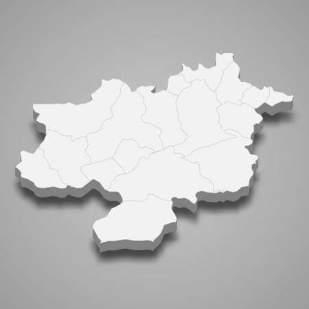 3d isometric map of Sivas is a province of Turkey, vector illustration 矢量图像