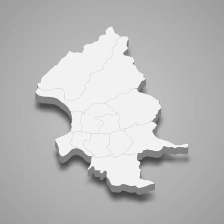 3d isometric map of Taipei City is a region of Taiwan, vector illustration 矢量图像