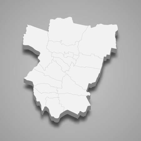 3d isometric map of Tucuman is a province of Argentina, vector illustration 矢量图像