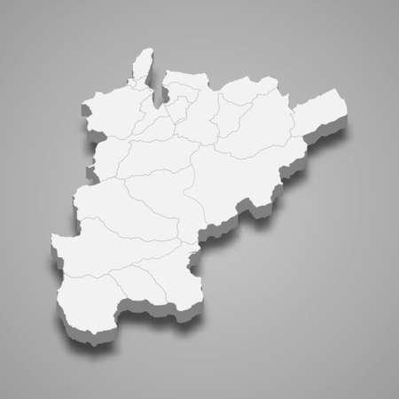 3d isometric map of Uri is a canton of Switzerland, vector illustration 矢量图像