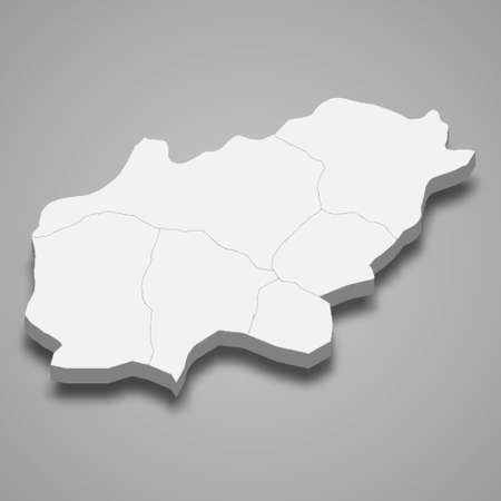 3d isometric map of Usak is a province of Turkey, vector illustration 矢量图像