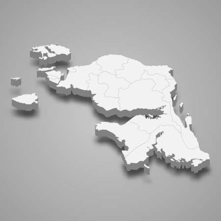 3d isometric map of West Papua is a province of Indonesia, vector illustration