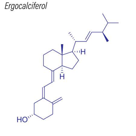 Skeletal formula of Ergocalciferol. Drug chemical molecule.