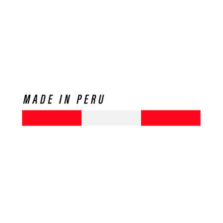 Made in Peru, badge or label with flag isolated on white background