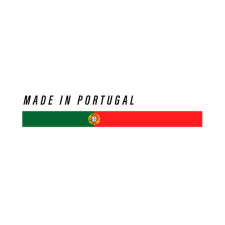 Made in Portugal, badge or label with flag isolated on white background Ilustração
