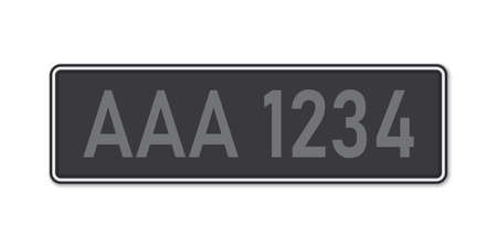 Car number plate. Vehicle registration license of Malaysia. Standard sizes