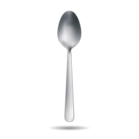 Vector illustration of realistic metal spoon. Template for your design Vector Illustratie