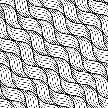 geometric wave pattern. Seamless vector background.Black and white texture. Template for your design