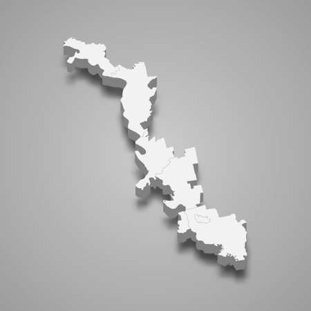 3d isometric map of Transnistria, isolated with shadow vector illustration