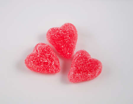 Valentines jelly candy heart on  a white background