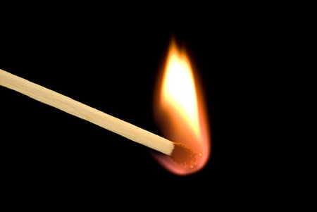 This image - a design element  beautiful bright fire