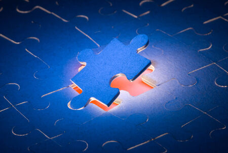 stereotypes: The dark blue puzzles It is a symbol  the decision of all problems