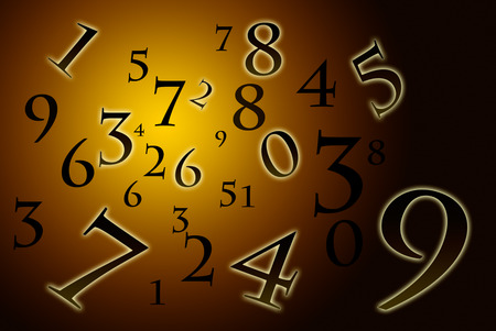 esoteric: A lot of numbers on a beautiful art background  Stock Photo