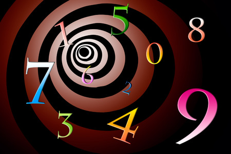A lot of numbers on a beautiful art background  Imagens