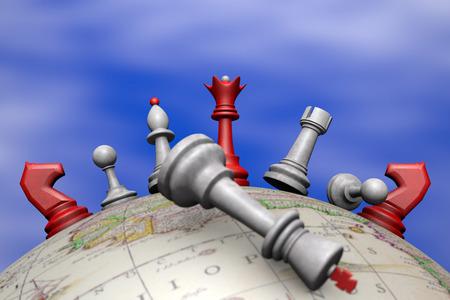 upheaval: Symbolic frame  political upheaval   Chess on the globe