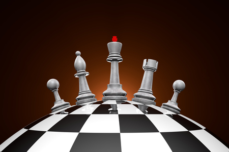 Symbolic Frame Political Upheaval Chess Pieces On A Chess.. Stock ...