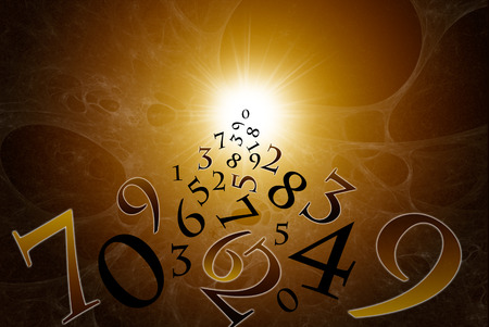 exact science: A lot of numbers on a beautiful art background  Stock Photo