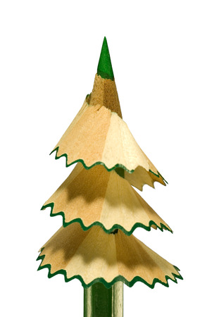 sharpening: It is symbolical the staff  new year, a fur-tree from a pencil