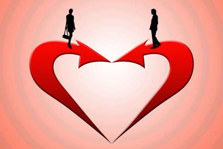 The image - a metaphor  the main way - love   photo