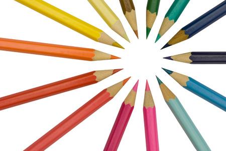 sharpening: Pencils, color spectrum  Stock Photo