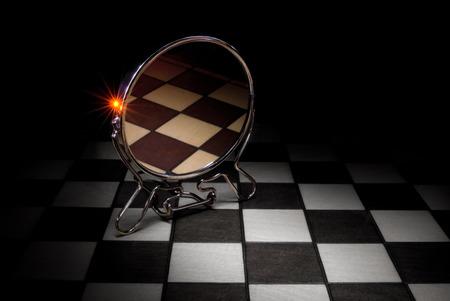dualism: Esta imagen - una met�fora (la conciencia y subconciencia). Foto de archivo
