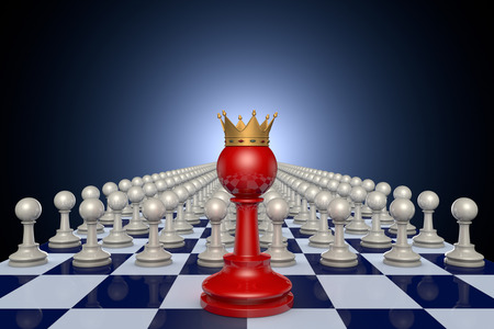 hegemony: Fairy chess pieces. Dark Blue artistic background.