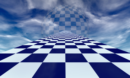 Chess road in the blue clouds. Available in high-resolution and several sizes to fit the needs of your project.