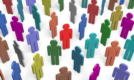 mucha gente: figuras de colores de las personas. Disponible en alta resolución y varios tamaños para adaptarse a las necesidades de su proyecto.