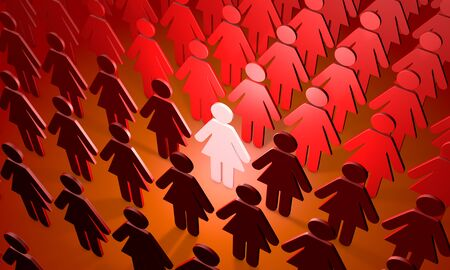 crowd: Standing Out from the Crowd. Available in high-resolution and several sizes to fit the needs of your project. Stock Photo