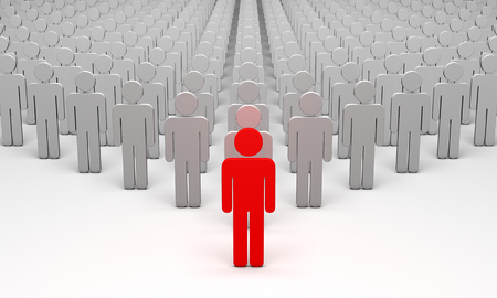 man standing alone: Standing Out from the Crowd. 3d illustration. Available in high-resolution and several sizes to fit the needs of your project.